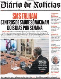capa Diário de Notícias de 25 março 2021