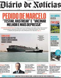 capa Diário de Notícias de 26 março 2021