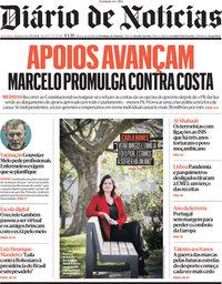 capa Diário de Notícias de 29 março 2021