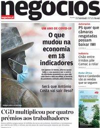 capa Jornal de Negócios de 2 março 2021