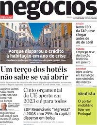 capa Jornal de Negócios de 4 março 2021