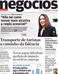 capa Jornal de Negócios de 8 março 2021