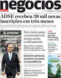 capa Jornal de Negócios de 9 março 2021