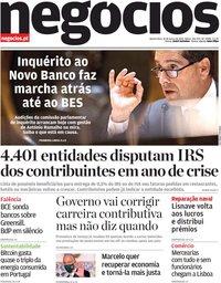 capa Jornal de Negócios de 10 março 2021