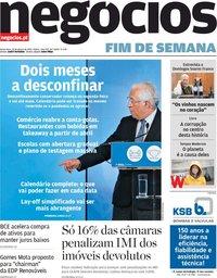 capa Jornal de Negócios de 12 março 2021