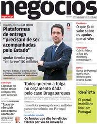 capa Jornal de Negócios de 15 março 2021