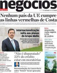 capa Jornal de Negócios de 16 março 2021