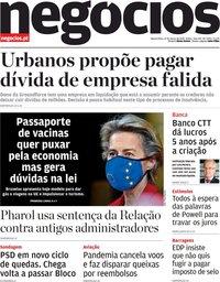 capa Jornal de Negócios de 17 março 2021