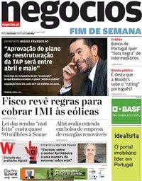 capa Jornal de Negócios de 19 março 2021