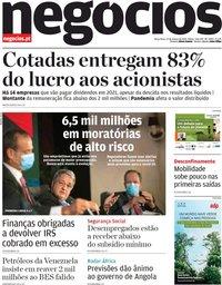 capa Jornal de Negócios de 23 março 2021