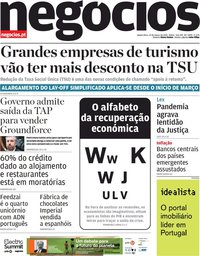 capa Jornal de Negócios de 25 março 2021