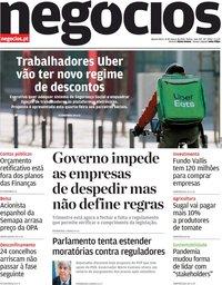 capa Jornal de Negócios de 31 março 2021