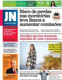 capa Jornal de Notícias de 1 março 2021