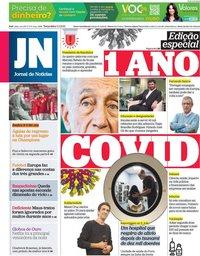 capa Jornal de Notícias de 2 março 2021