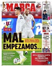 capa Jornal Marca de 26 março 2021