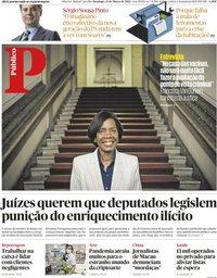 capa Público de 21 março 2021