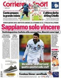 capa Corriere dello Sport de 1 abril 2021