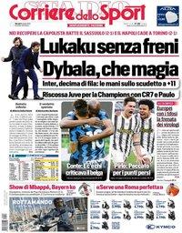 capa Corriere dello Sport de 8 abril 2021
