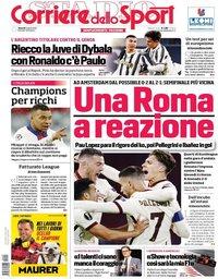 capa Corriere dello Sport de 9 abril 2021