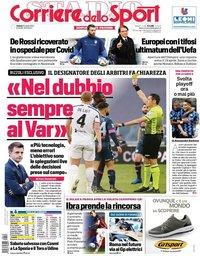 capa Corriere dello Sport de 10 abril 2021