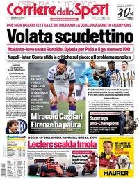 capa Corriere dello Sport de 18 abril 2021