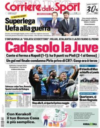 capa Corriere dello Sport de 19 abril 2021
