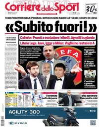 capa Corriere dello Sport de 20 abril 2021