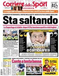 capa Corriere dello Sport de 21 abril 2021