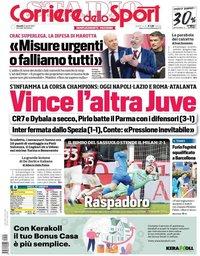 capa Corriere dello Sport de 22 abril 2021