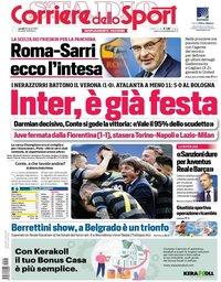capa Corriere dello Sport de 26 abril 2021