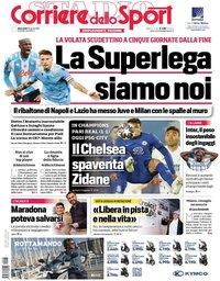 capa Corriere dello Sport de 28 abril 2021
