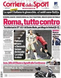 capa Corriere dello Sport de 30 abril 2021