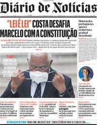 capa Diário de Notícias de 1 abril 2021