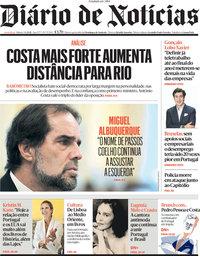 capa Diário de Notícias de 3 abril 2021