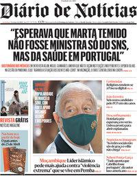 capa Diário de Notícias de 4 abril 2021