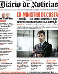 capa Diário de Notícias de 5 abril 2021