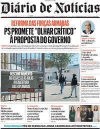 capa Diário de Notícias de 6 abril 2021