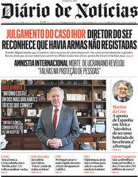 capa Diário de Notícias de 7 abril 2021