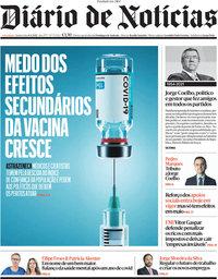capa Diário de Notícias de 8 abril 2021