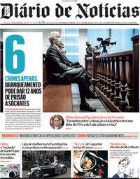 capa Diário de Notícias de 10 abril 2021