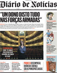 capa Diário de Notícias de 12 abril 2021