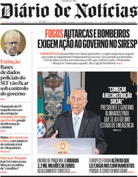capa Diário de Notícias de 15 abril 2021