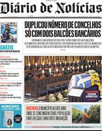 capa Diário de Notícias de 18 abril 2021