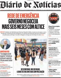 capa Diário de Notícias de 20 abril 2021