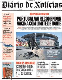 capa Diário de Notícias de 21 abril 2021