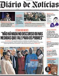 capa Diário de Notícias de 24 abril 2021