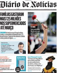 capa Diário de Notícias de 26 abril 2021