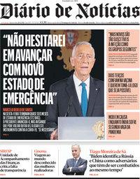capa Diário de Notícias de 28 abril 2021