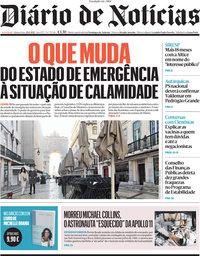 capa Diário de Notícias de 29 abril 2021