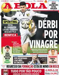 capa Jornal A Bola de 2 abril 2021